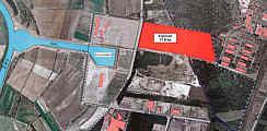 Vorgesehenes Betriebsgelände für das Enerconwerk im Eurohafen Haren/Meppen