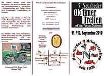 Flyer zum Oldtimertreffen in Neurhede im PDF-Format