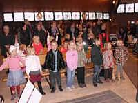 Kindergartenkinder beim Erntedankfest