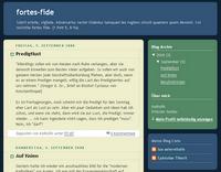 Screenshot des Blogs fortes fide
