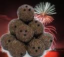 Rumkugeln mit Feuerwerk