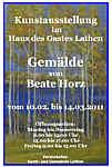 Plakat zur Ausstellung von Beate Horz