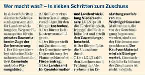 Bericht der Ems-Zeitung vom 11.02.2011 - Infokasten
