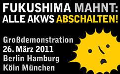 Fukushima mahnt: Alle AKWs abschalten!