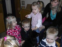 Border- Collis im Kindergarten St.Bartholomäus
