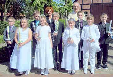 Die Wippinger Erstkommunionkinder 2011