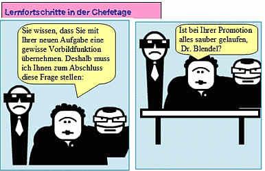 Comic Lernfortschritte in der Chefetage
