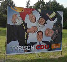 CDU-Plakat am Kreisel in Dörpen