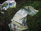 Entsorgte Zeitungen