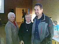 links Herta lammers, Schwester Juvenalis, Hermann-Josef Pieper (v.a. Firmlinge)