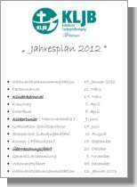 Zum Jahresplan 2012 der KLJB Wippingen