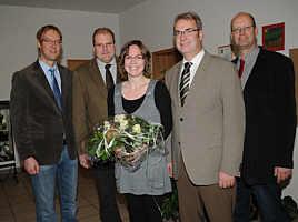 v.l.: Hermann Wocken, Heinz-Hermann Düthmann, Barbara Klapprott, Hermann Gerdes, Andreas Hövelmann| Foto: Eva Köbbemann