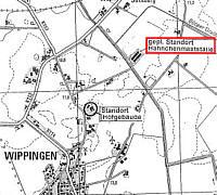 Standort des beantragten Maststalls