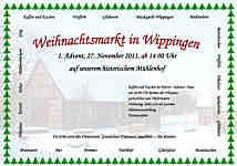 Flyer zum Wippinger Weihnachtsmarkt