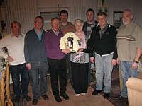 v. l.: Heinz Berling, Alois Nehe, Klaus Abeln, Heiner Voskuhl, Johanna Gerdes, Wilfried Schmunkamp, Heinz Robin, Heinz Schulte