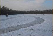 Eislaufen auf dem Ems-Seitenkanal