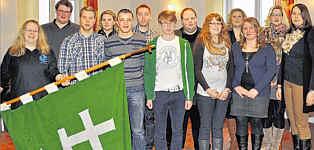 Neu formiert hat sich der Vorstand der Katholischen Landjugendbewegung im ehemaligen Dekanat Aschendorf. Das Leitungsteam repräsentiert insgesamt 24 Ortsgruppen. Foto: Willy Rave, Ems-Zeitung