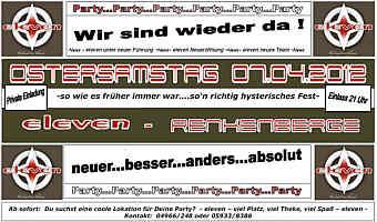 Flyer zur Party