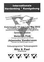 Flyer zu Gedenkkundgebung in Esterwegen am 12.05.2012