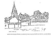 Skizzenzeichnung der Wippinger Kirche