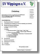Einladung zur Generalversammlung und alle Tabellen 2011/2012