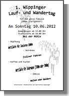Flyer zum 1. Wippinger Lauf- und Wandertag