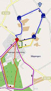 Zum OpenStreetMap mit den Wippinger Wanderwegen