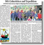 EZ-Bericht über Ferienpassaktion der Wippinger Jäger vom 10.08.2012