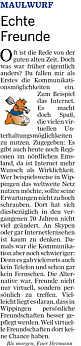 """Glosse """"Hermann"""" aus der Ems-Zeitung vom 31.10.2012"""