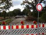 Arbeiten an der Flutmuldenbrücke bei Steinbild