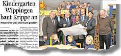 Artikel in der Ems-Zeitung vom 20.11.2012 über den Kindergarten
