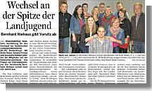 Artikel in der Ems-Zeitung vom 24.11.2012 über die KLJB Renkenberge