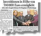 Artikel in der Ems-Zeitung vom 24.11.2012 über die Wegebaukasse Renkenberge