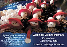 Flyer Weihnachtsmarkt 2012 in Wippingen