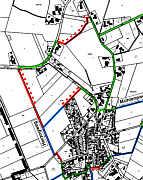 Plan der Wanderwege u. a. des Herzogwegs Wippingen