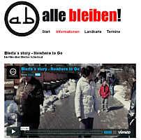 """Zur Homepage """"Alle Bleiben!"""" mit dem Video"""