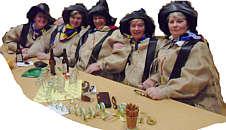 Diese Frauen hatten gute Laune auf dem Wippinger Karneval 2011