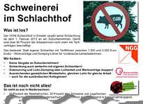 Flyer zur Protestversammlung