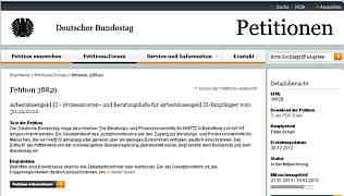 Zur Petitionsseite des Deutschen Bundestages
