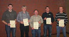 Vereinsmeister v.l.: Georg Ganseforth, Josef Speller, Bernd Freese, Johannes Hempen, Hermann Jansen