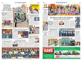 Doppelseite der Ems-Zeitung vom 12.03.2013
