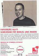 Flyer zur Leukin-Aktion am 07.04.2013 in Papenburg