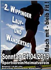 Plakat zum Lauf- und Wandertag