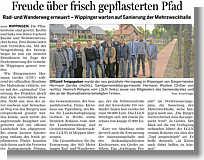 Artikel in der Ems-Zeitung vom 27.05.2013