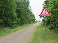 Warnschild an der Fleerstraße