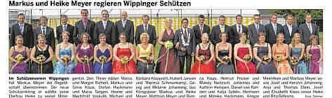 Der Wippinger Schützenthron 2013