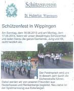 Flyer zum Schützenfest
