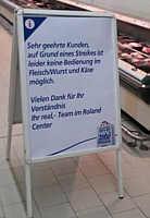 Streik im Roland-Center Bremen am 10.06.2013