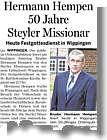 EZ-Bericht vom 06.7.2013: Ordensjubiläum von Hermann Hempen