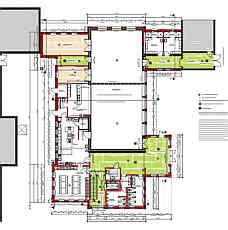 Grundriss der neuen Mehrzweckhalle